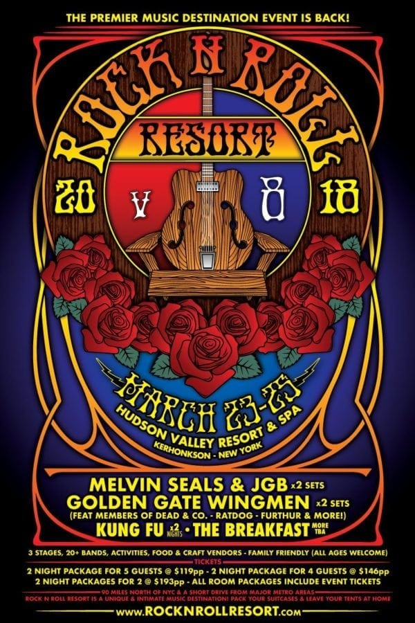 "Rock n Roll Resort v8 ""The Grateful Escape"" poster"